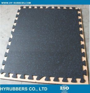Recycled Rubber Flooring/Tile/Interlock/Roll Shape for Gym pictures & photos