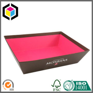 Cut Handle Holes Cardboard Paper Gift Tray for Food Display pictures & photos