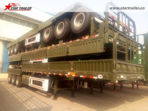 40-60ton Capacity Utility Drop Side Semi Trailer pictures & photos