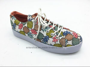Lace up Fruits Printed Canvas Children Shoes for Youths (ET-LH160298K) pictures & photos