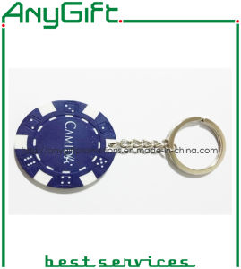 Plastic Chip Keyring with Customized Printed Logo pictures & photos