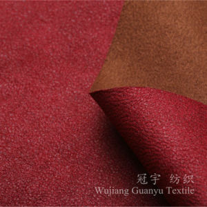 Europe Style Bronzing Suede Sandwich High Thick Sofa Fabrics pictures & photos