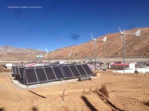 3kw Horizontal Wind Turbine & Solar Panel System for Remote Area pictures & photos