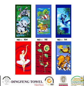 100% Cotton Velour Reactive Printed Beach Towel Df-2897 pictures & photos