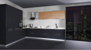 2017 Modern UV High Glossy Kitchen Cabinet (ZX-024) pictures & photos