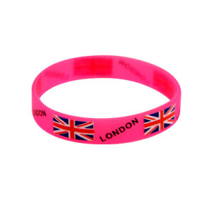 Promotional Printed Logo Silicone Rubber Bracelets for World Cup pictures & photos