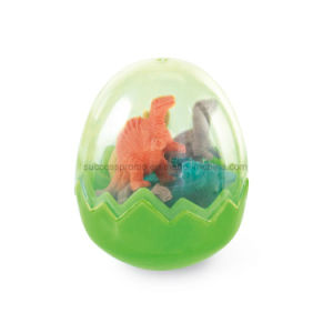 Rubber Eraser Set 8 Dinosaur Rubbers in Egg Shaped Box pictures & photos
