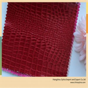 Crocodile Patent Leather for Bag Making pictures & photos