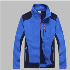 Fashion Long Sleeve 100% Polyester Embroidered Casual Outdoor Winter Men Jacket pictures & photos