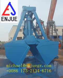 Manufacture Single Rope Electric Hydraulic Grab Bucket for Bulk Cargo Material pictures & photos