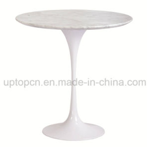 Artificial Marble Tulip Table with Aluminum Table Base for Restaurant (SP-GT353) pictures & photos