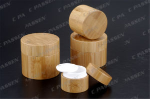 New Arrival Bamboo Round Acrylic Cream Jar for Cosmetic Packaging (PPC-ACJ-105) pictures & photos