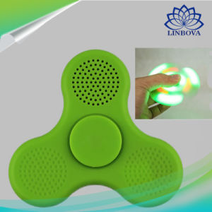 Green and Pink Toy LED Finger Hand Speaker Fidget Spinner pictures & photos
