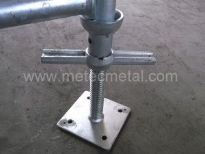 Solid Screw Jack Base for Cuplock Scaffold pictures & photos
