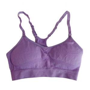 China Wholesale New Arrival Full Coverage Stapless Lace Sports Bra pictures & photos