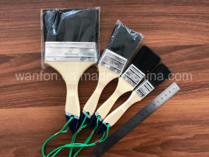 Black Bristle Paint Brush with Vanished Wooden Handle Thailand Market pictures & photos