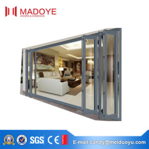 Easy-Pulled Aluminium Double Glazed Heavy Duty Folding Door for Balcony pictures & photos