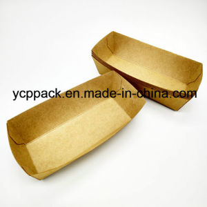 Disposable Food Packaging Kraft Food Tray pictures & photos