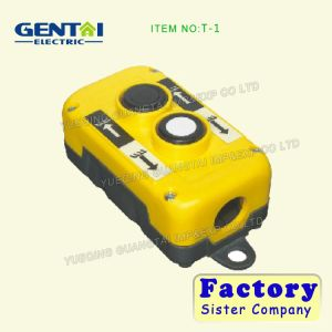 Industrial 3 Holes Waterproof Crane/Hoist T-2s with Push Button Control Switch pictures & photos