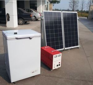 128L Solar Refrigerator Freezer 12V/24V pictures & photos