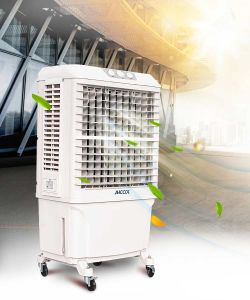 Big Size Office Plastic Mobile Evaporative Air Conditioner Fan/ Air Cooler pictures & photos