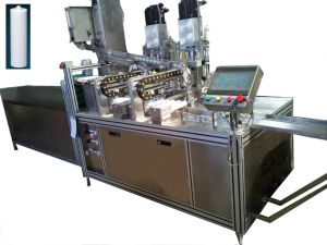Full Automatik Electronic Adhesive Filling Capping Machinery RTV-T Repacking Machine pictures & photos