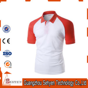 Brand Logo Stylish Sports Red and White Cotton Polo Tshirt pictures & photos