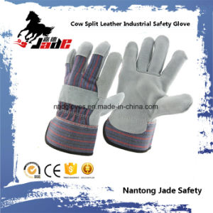 Grey Cowhide Split Leather Industrial Safety Work Glove pictures & photos