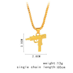 Hip Hop Necklace Uzi Gun Necklace Pendant with Chain Mens Uzi Pistol pictures & photos