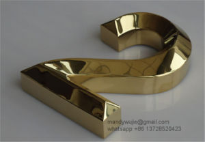 Gold Plated Stainless Steel Letters pictures & photos