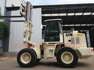 Strong 5.0 Ton Cross Country Forklift (YC50) with ISO, SGS pictures & photos