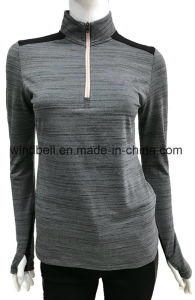 Anti-UV T Shirt Fitness Sportswear for Women with Reflective Tape pictures & photos