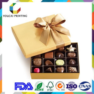 Factory Cheap Lip and Base Chocolate Box with Divider Insert pictures & photos