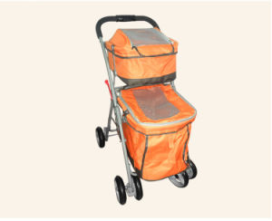 Quality Design Outdoor Dog Double Layers Twins Cat Strollers pictures & photos