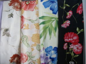 Printing Poly Satin Fabric for Women Dress pictures & photos