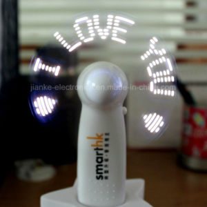 Custom Advertising Logo Portable LED Message Fan (3509) pictures & photos