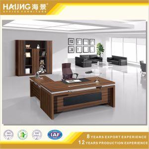 Brown Walnut Color Malamine Open Office Desk