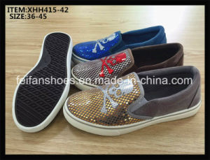 Women Slip-on Injection Shoes Casual Flat Shoes Canvas Shoes (XHH415-42) pictures & photos