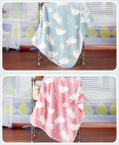 3D Embossed Cartoon Cat Flannel Baby Blanket / Baby Throw pictures & photos
