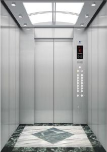 Gearless Passenger Elevator with Hairline Stainless Steel Cabin pictures & photos