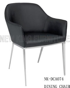 New Fashion Simple Design Brushed Stainless Steel Dining Chair (NK-DCA074)