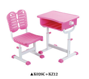 Adjustable School Desk and Chair K026c+KZ12 pictures & photos