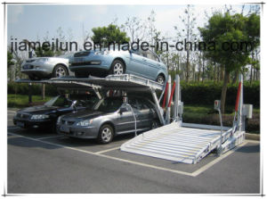 Two Post Automotive Storage Double Space Car Parking Equipment pictures & photos