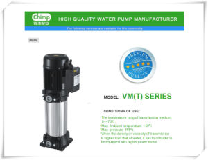 Centrifugal Stainless Steel Multistage Vertical Electirc Water Pump pictures & photos