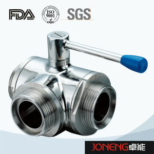 Stainless Steel 3 Way Threaded Sanitary Ball Valve (JN-BLV1007) pictures & photos