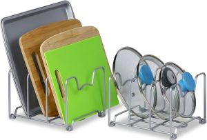 Kitchen Cabinet Pantry and Bakeware Organizer Rack Holder pictures & photos