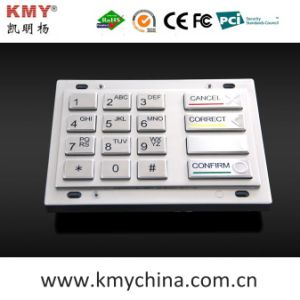 160*102.4 PCI Encryption Pin Pad EPP Metal Keypad (KMY3503A-PCI) pictures & photos