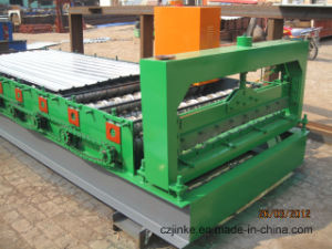 Galvanized Glazed/Currogated Roof Tile Roll Forming Machine Jk pictures & photos