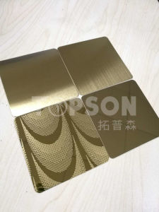 Hairline Stainless Steel Color Sheet for Decoration PVD 201 304 Cold Rolled pictures & photos