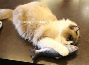 2017 New Highly Recommended Pet Plush Stuffed Cat Toy with Catnip (KB3006) pictures & photos